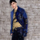Mitchells Hope Disney Descendants 2 King Ben Blue Studded Leather Jacket