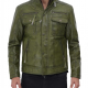 Moffit Dark Green Leather Jacket