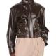 Nancy Drew TV Series S02 Kennedy McMann Brown Bomber Leather Jacket