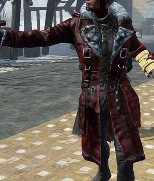 Nuka Raider Fallout 4 Maxson's Battle Red Leather Trench Coat