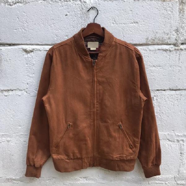 Obey Vintage Propaganda Brown Leather Jacket