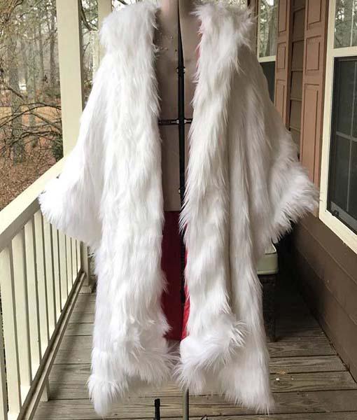 Once Upon a Time Inspired Cruella de Vil Faux Fur Coat