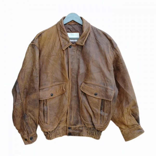 Robo Jeans California Brown Leather Jacket