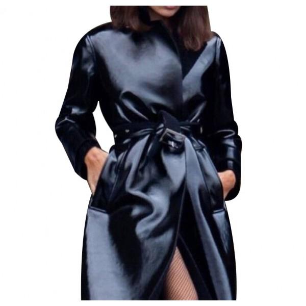 Selina Kyle The Batman 2022 Zoë Kravitz Leather Coat