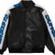 Smurfs Supreme Black Varsity Leather Jacket