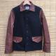 Street Fashion Cotton & Leather Sleeve Light Jacket
