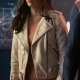Superman And Lois Elizabeth Tulloch White Leather Jacket