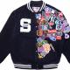 Supreme New Era MLB Varsity Navy Fleece Jacket