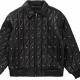 Supreme Quilted Studded Black Leather Jacket