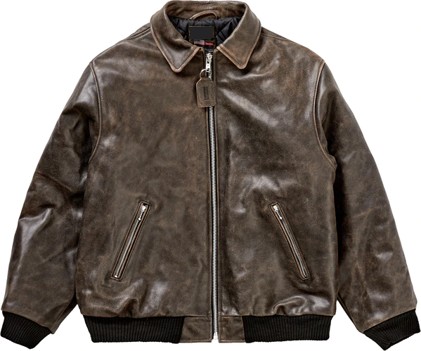 Supreme Vanson Worn Leather Jacket