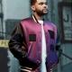 The Weeknd H&M Purple Varsity Jacket