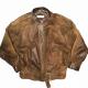 Vintage 80s Bootlegger Bomber Leather Jacket
