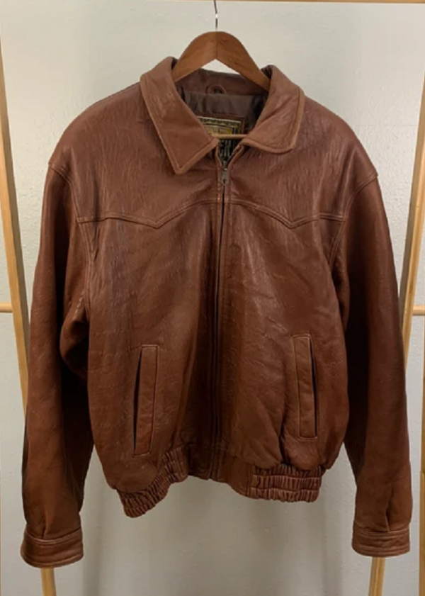 Western Adler Vintage Brown Leather Jacket