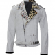 Wrestler Brian Kendrick White Motorcycle Leather Jacket