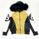 8 Ball Fur Hooded Bomber Leather Jacket