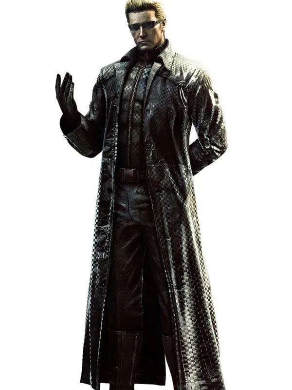 Albert Wesker Residents Evil 5 Black Leather Trench Coat