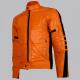 Biker Style Orange Leather Jacket