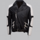 Black And White Biker Leather Jacket