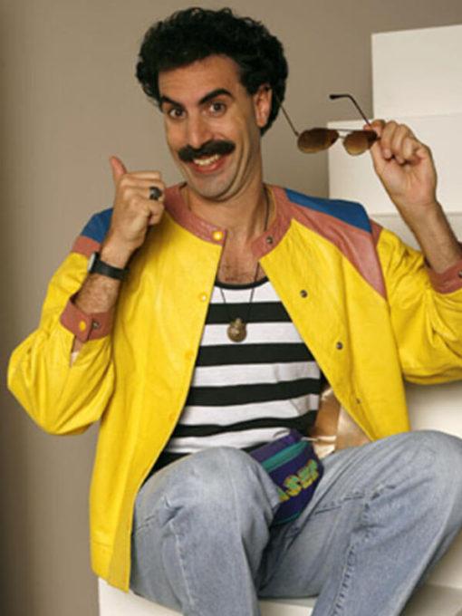 Borat Sacha Baron Cohen Leather Jacket