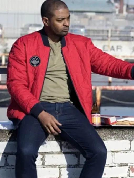 Bulletproof Aaron Bishop Red Bomber Jacket
