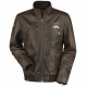 Call Of Duty WWII Brown Leather Jacket