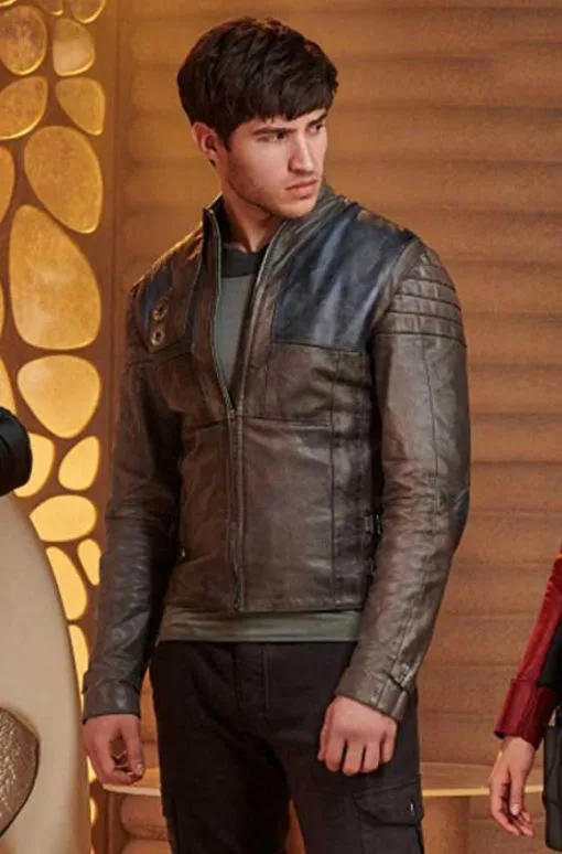 Camerons Cuffe Seg El Krypton Brown Leather Jacket
