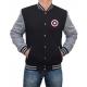 Captain America Logo Lettermans Varsity Jacket