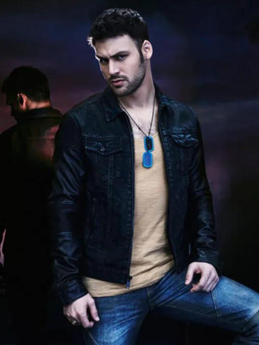 Carlos Gutierrez Heroes Reborn Ryan Guzman Leather Jacket