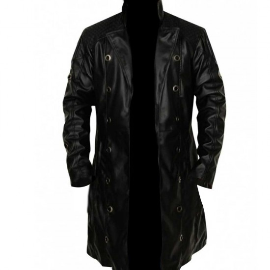 Deus Ex Human Revolution Adam Jensen Leather Trench Coat