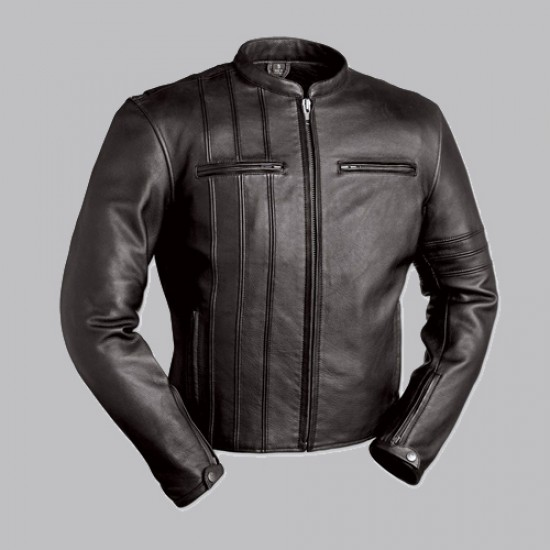 First Classics Scooter Black Leather Jacket