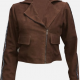 Gal Gadot Brown Biker Leather Jacket