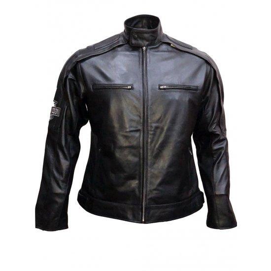 Harley Davidson Reflective Willie G Skull Leather Jacket