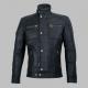 Hispar Black Moto Racer Leather Jacket