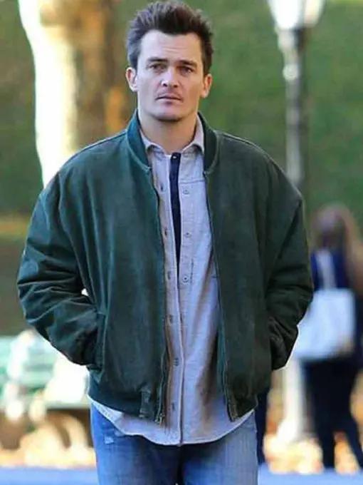 Jeff Vahn Separation Rupert Friend Bomber Suede Leather Jacket