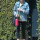 Kirstens Dunst Outing in LA Denim Jacket