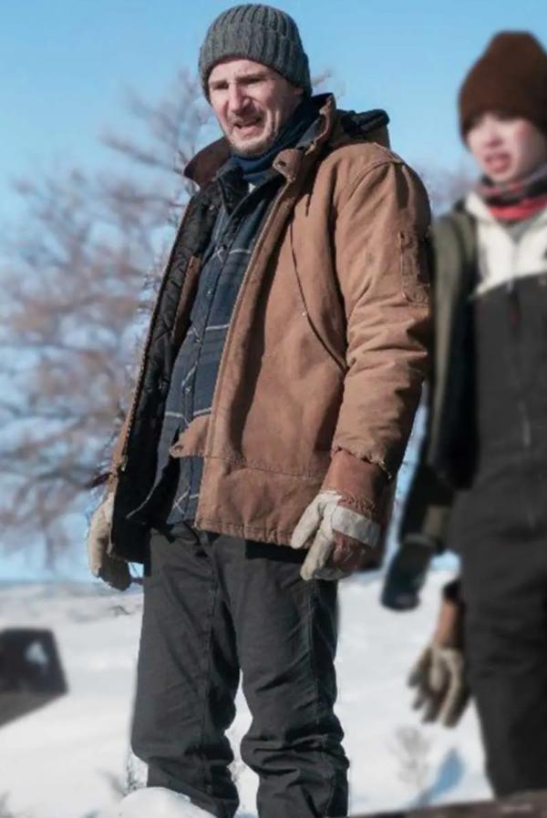 Liams Neeson The Ice Road 2021 Mike Puffer Coat