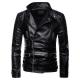 Long Sleeve Motorcycle Slim Fit Leather Jacket