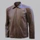 Michael Fassbender Biker Brown Leather Jacket