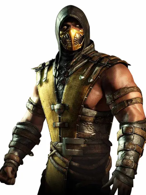Mortal Kombat Scorpion Hooded Leather Jacket
