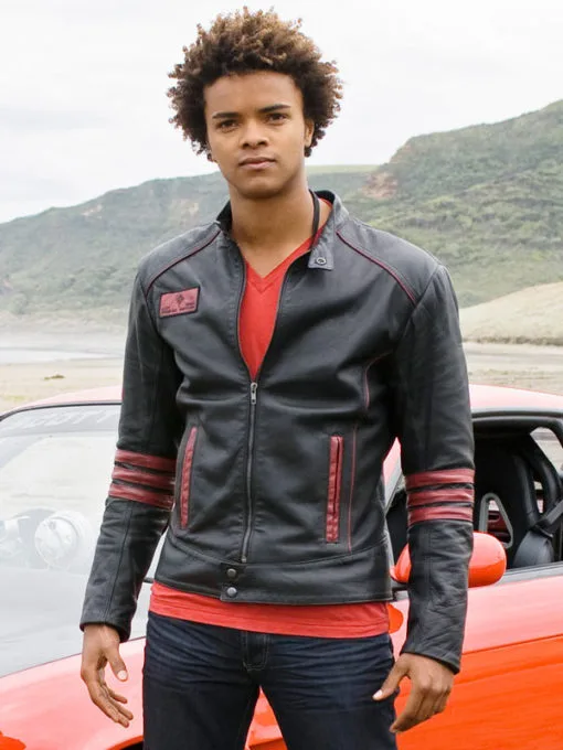 Power Rangers Rpm Red Scott Truman Leather Jacket