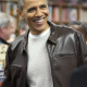 President Barack Obama Brown Leather Jacket