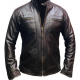 Quilted Cafe Racer Biker Leather Jacket