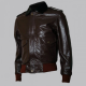 R. J. Macready Brown Bomber Leather Jacket