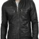 Retro Black Biker Leather Jacket