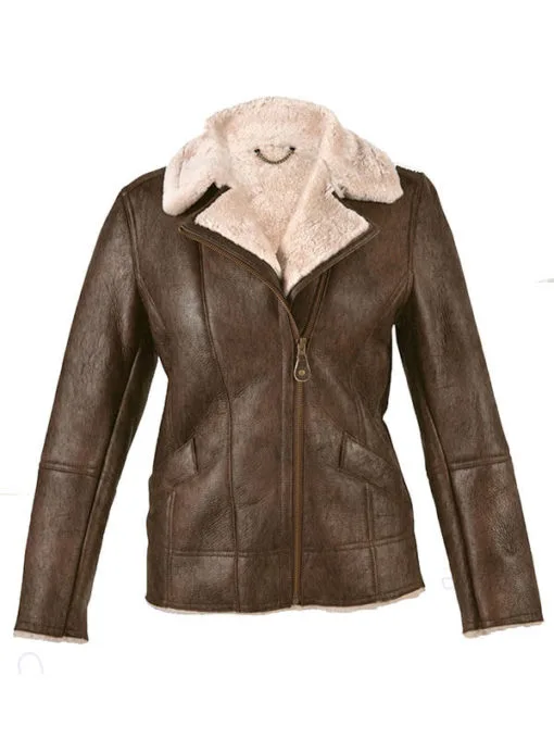 Sheepskin Shearling Brown Leather Jacket
