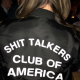 Shit Talkers Club Of America Bomber Satin Jacket