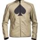 Spade Card Symbol Leather Jacket