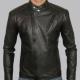 Tony Stark Motorcycle Black Leather Jacket