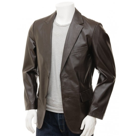 Ultimate Crossover Brown Leather Blazer