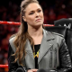 WWE Wrestler Ronda Jean Rousey Black and Grey Leather Jacket